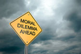 Moral Dilemma Ahead — Stock Photo