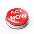 Act Now Red Button — Stock Photo