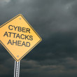 Cyber Attacks Ahead — 图库照片