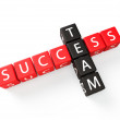 Team Success crossword concept — Stock Photo