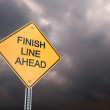 Finish Line Ahead — Stock fotografie