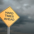 Hard Times Ahead — Stock Photo