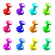 Colorful Push Pins — Stock Photo