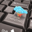 Cloud computing security concept — Stock Photo