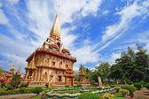 WAT CHAITHARAM or Wat Chalong TEMPLE in Phuket thailand — Stock Photo