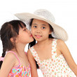 Two beautiful happy little asian girl — ストック写真