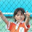 Sport little asian girl — Stock Photo
