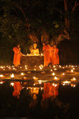Lámpara flotante monje tailandés — Foto de Stock