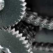Close up of chain gears — Stock Photo