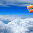 Colorful balloon in the blue sky — Foto Stock