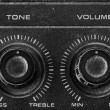 Crack Old Tone and Volume button vintage style — Stock Photo