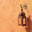 Old lamp on the wall — Stock Photo