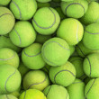 Tennis balls background texture — Stock Photo