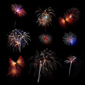 Mix Fireworks — Stock Photo