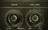 Old Tone and Volume button vintage style — 图库照片
