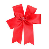 Red ribbon isolated on white background — Stock Photo