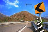 Road on high mountain — Stock Photo