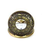 Vintage pocket clock on white background — Foto Stock