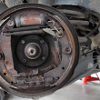Stock Photo: Change brake drum