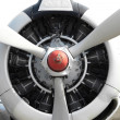 9 cylinder Radial Engine of old airplane with cliping path — Stock Photo #28141039
