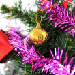 Decorated on Christmas tree — Stock Photo