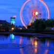 Ferris wheel on night time — Foto Stock