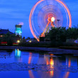 Ferris wheel on night time — Stock fotografie