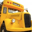 Front view of yellow school bus — Stock Photo