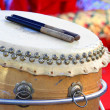 Chinese Traditional Wooden Drum — Stock Photo