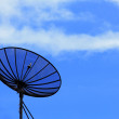 Satellite dish under blue sky — Stock Photo #28143331