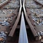 Close-up of the railway tracks — Stock Photo