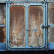 vintage railroad container door — Stock Photo