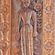 Apsara Wood carving — Stock Photo