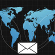 Stock Photo: E-mail communication on world