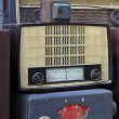 Grungy retro wooden radio — Stock Photo