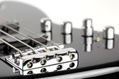 Electric Bass Guitar isolated on white background — Stock Photo