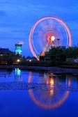 Roda-gigante a tempo de noite — Foto Stock