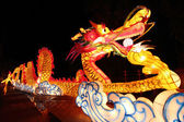 Beautiful illuminated Dragon Lantern — Stock Photo
