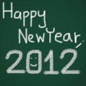 šťastný nový rok 2012 na tabuli — Stock fotografie