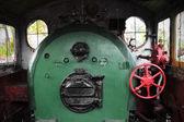 Steam locomotive cockpit — Stockfoto