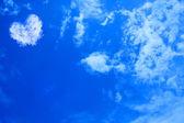 Hart wolk in de lucht — Stockfoto