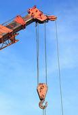 Crane Hook with blue sky — Stock Photo