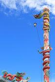 Chinese dragon pillar — Stock Photo