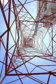 Communication antenna tower — Stock Photo