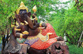 Ganesh carved wood in the nature — Stock Photo