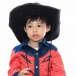 Asian little cowboy — 图库照片