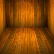 Wood room with panel and floor background — Stock Photo