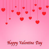 Red hearts drop Valentines day — Stockfoto