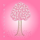 Träd hjärtan alla hjärtans dag — Stockfoto