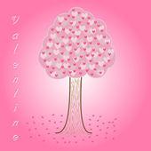 árvore corações dia dos namorados — Foto Stock